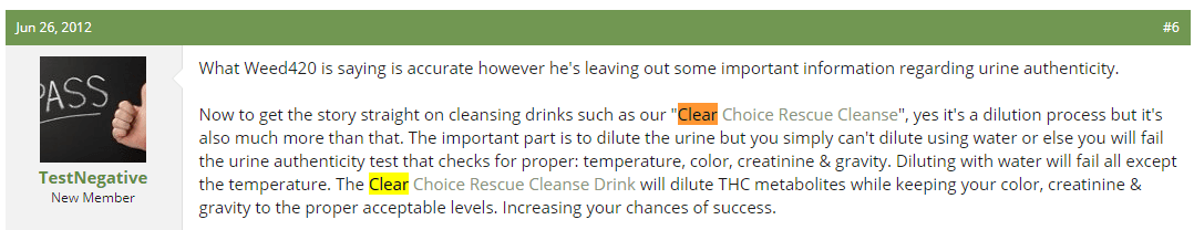 Clear Choice Rescue Cleanse customer review